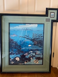 Aquarium of the Americas framed poster and stamp