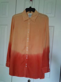 New Coral Ombre Tunic Shirt size M West Springfield