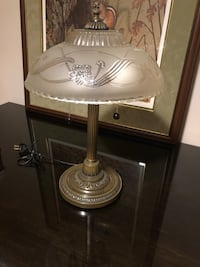 Brass base Lamp with Embossed glass shade  Innisfil, L9S 1T2
