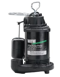 Wayne Model #CDU800-1/2 HP Cast Iron Sump Pump with Vertical Float Switch