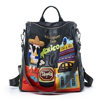 LETIFE SOUVENIRS FROM MEXICO EMBROIDERED CASUAL BACKPACK