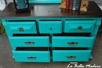 Pretty Satin Sea Glass Painted Dresser Knoxville