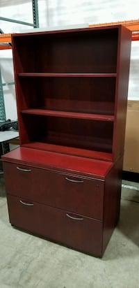 Lateral file drawer with surface mounted bookshelf 2291 mi