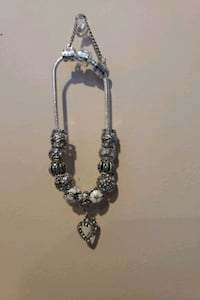 silver and white beaded necklace Surrey, V3X 1P3