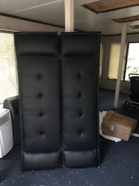 black leather tufted bed headboard New Rochelle, 10801