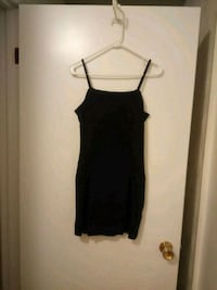 women's black spaghetti strap dress