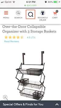 Over-the-Door Collapsible Organizer with 3 Storage Baskets new