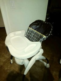white and gray high chair Miami, 33172
