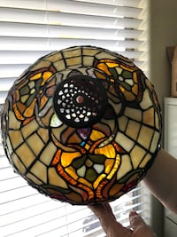 Spectrum Leaded Tiffany Style Stained Glass Lamp Shade w/ beveled jewels Mesa, 85212