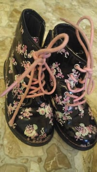 pair of black-white-and-pink floral boots Saint John, E2M 3S8