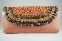 Orange and Brown Beaded Handcrafted Clutch Bag Mississauga, L4Y 4E2