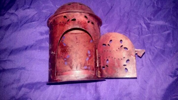 Punched Tin Candle Holder