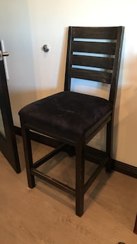 Black wooden padded chair - set of 6