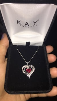 KAY jewelers heart pendant necklace Wellsville, 14895