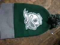 green and white knit cap Eugene, 97402