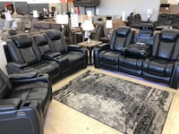Power reclining sofa or love seat with adjustable headrest and USB $1 down no credit check financing  Roslyn Heights, 11577