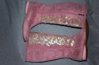 Pink & Suede Cowgirl Boots - Size 7 Tampa