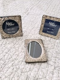 Sterling silver plated picture frames
