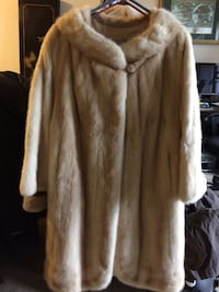 White and brown fur coat Alexandria, 22304