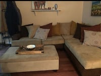 brown and black sectional couch Springfield, 22150