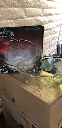 clear cut glass bowl with box Las Cruces, 88005