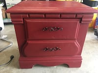 Red solid  wood 2-drawer nightstand Fort Worth, 76115