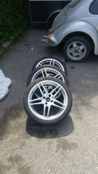 "17"" 4 BOLT PATTERN RIMS N TIRES Toronto, M9W 3T9"