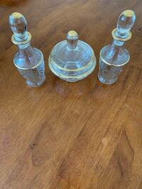 Vintage Condiment Server with Tray and Gold Trim Kirkwood, 63122