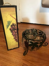 Grape candle holder and wine box  Climax, 27233