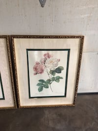 White and pink petaled flowers painting from Bombay 1987 South Chesterfield, 23803