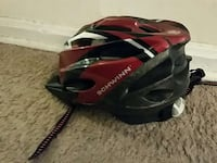 black, red, and gray open face helmet Adelphi, 20783
