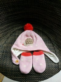 Baby Boden hat and mittens 0-6 months