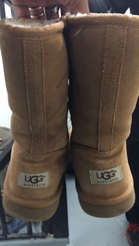 pair of brown UGG boots