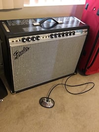 "Fender ""silverface"" Twin Reverb Amp. 1968 reissue  [PHONE NUMBER HIDDEN] watts. Reverb/Vibrato foot switch. This amp is practically brand new. Bought from Guitar Center maybe two years ago. I live in a apartment, it has never left apartment. Never played at  Monrovia, 91016"