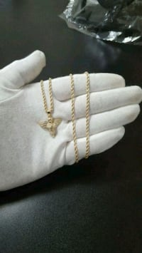 10K Gold Angel Pendant + 10K Gold Rope Chain 2.5mm Mississauga, L4Y 4G4