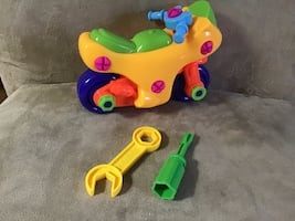 Toy motorcycle puzzle