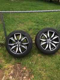 """2 Continental Pro Contact tires with Chevy 18"""" rims Beltsville, 20705"""