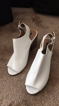 white opened toes boots from forever 21 size 9 San Francisco, 94112