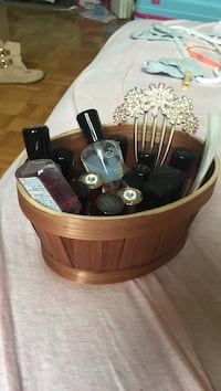 brown wooden basket