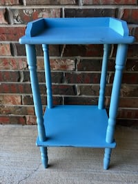 VTG Distressed Blue Two-Tier Side Table/Occasional Table/Plant Stand Norman, 73071