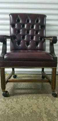 Faux burgundy office leather chair Rockville, 20851