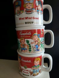Vintage Campbell's soup bowls/mugs Wescosville, 18106