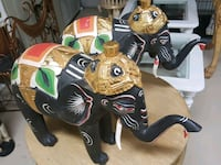 Wooden elephant, we have two, each $49, from Thail Boca Raton, 33496