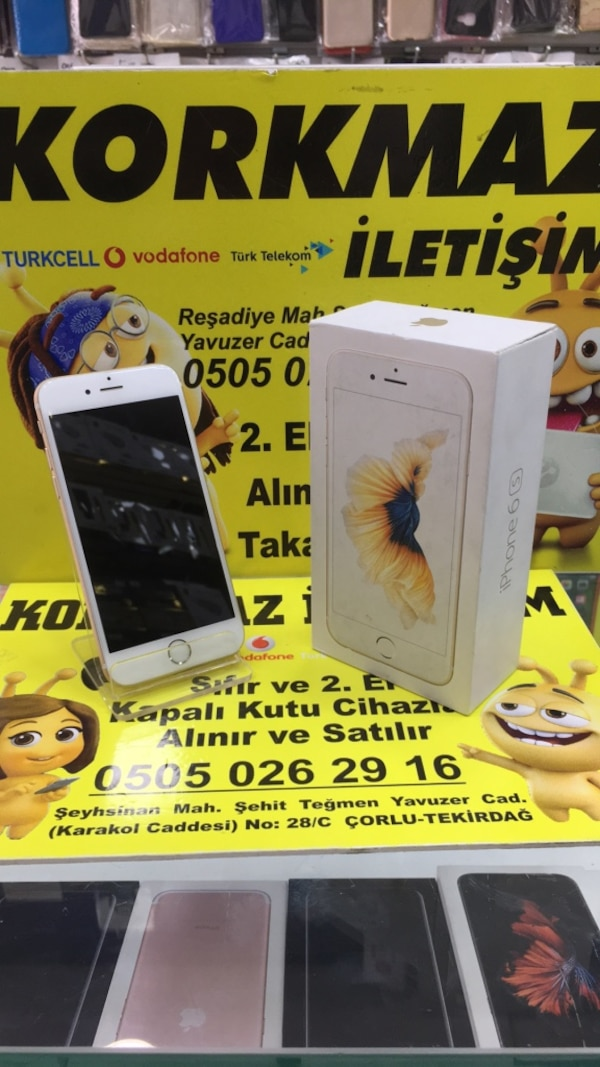iPhone 6s gold 32gb temiz