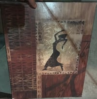 brown wooden framed painting of man Milwaukee, 53208
