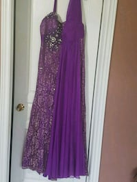 purple and silver floral sleeveless maxi dress Toronto, M1E 4W7
