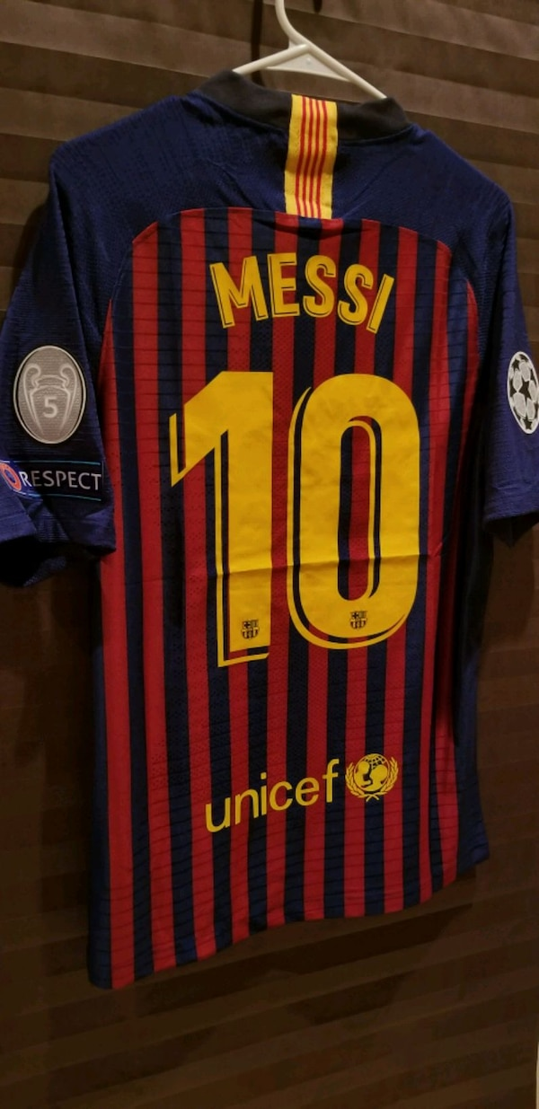 Used Barcelona Home  10 Messi Champions League Jersey for sale in ... 3ac15328e