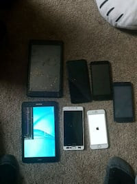 Assorted cell phones n tablets Edmonton, T5P 2X9