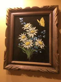 Oil painting in a little wood frame Vaudreuil-Dorion, J7V 7W9