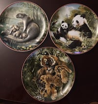 WORLD WILDLIFE FUND COLLECTOR PLATES TORONTO